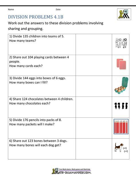 Fun Math Worksheets For 4th Grade Division Worksheets In 2020 Division Worksheets Division Worksheets Grade 4 Fun Math Worksheets