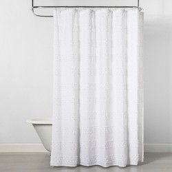 Woven Shower Curtain Green White Project 62 White Shower