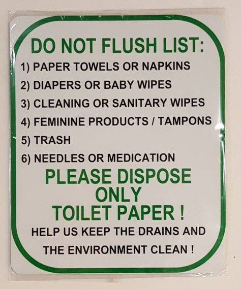 FLUSH THE TOILET Aluminum Sign clean toilet restroom warning bathroom 10/""
