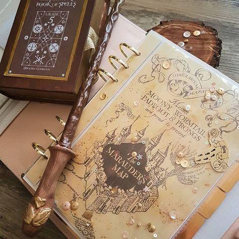 <3 Marauder's Map Insert | Harry Potter Planner | Filofax Dashboard
