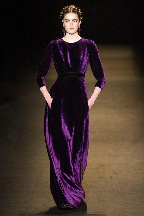 Alberta Ferretti, Fall 2013 #MFW #purple #velvet