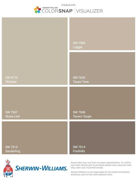 Beige, Greige, and Brown Sherwin-Williams Paints