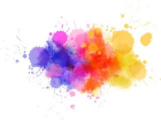 Vecteur Multicolored Splash Watercolor Blot Watercolor Splash