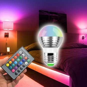 Magic Lighting Rgb Color Changing Light Bulb Bright Colors Fun Gadget To Own In 2020 Color Changing Light Bulb Color Changing Lights Strip Lighting