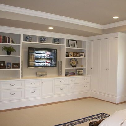 Master bedroom built-in-used instead on either side of bed with ...