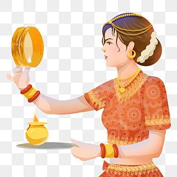 Karwa Chauth Kartika Indian Woman Festival Moon Watching Elements Woman Karwa Chauth Kartika Png Transparent Clipart Image And Psd File For Free Download Clip Art Custom Illustration Indian Women