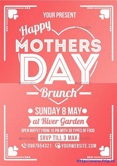 Mother Day Flyer Template Free Unique 35 Best Mother S Day Flyer Print Templates 2018 Flyer Template Party Invite Template Mothers Day Brunch