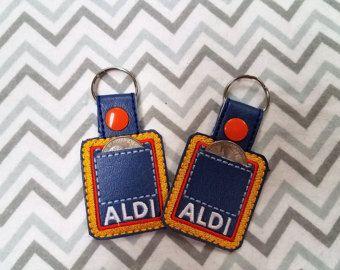 Aldi Quarter Keeper Aldis Keychain Friend Keyfob Aldi Keychain Mom Gift Funny Gift Quarter Keeper Aldis Aldi Aldi Quarter Holder