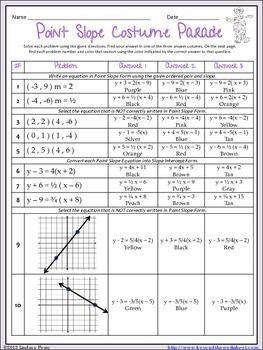 Slope Intercept Form Riddle | Worksheets, Standard form and Equation