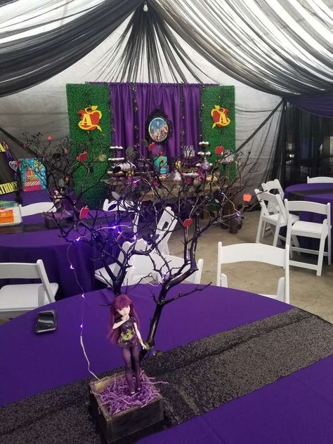Descendants 2 Birthday Party Ideas En 2019 Descenden Party