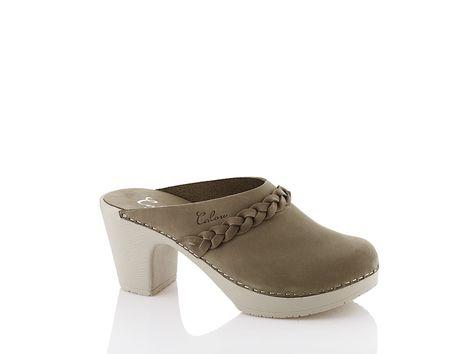 High heeled clogs Sally olive Calou   High heel clogs