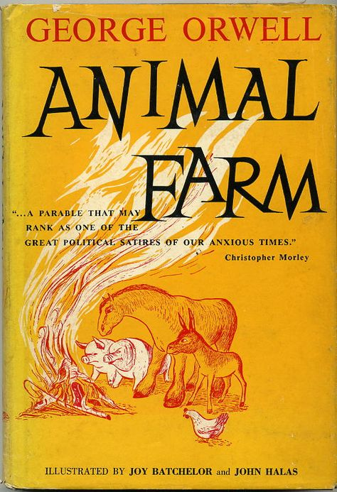 political allegory in george orwells book the animal farm George orwell communicated his political opinions through his works animal farm, for example, was an allegory of how communism is corrupt and that greed, wickedness and indifference can destroy any chance of a 'utopia.