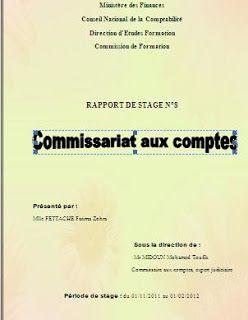 Télécharger Cet Rapport De Stage Commissariat Aux Comptes