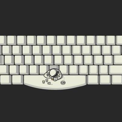 """Isso é o que chamamos de """"space bar"""" :)    crackle.com.br"""