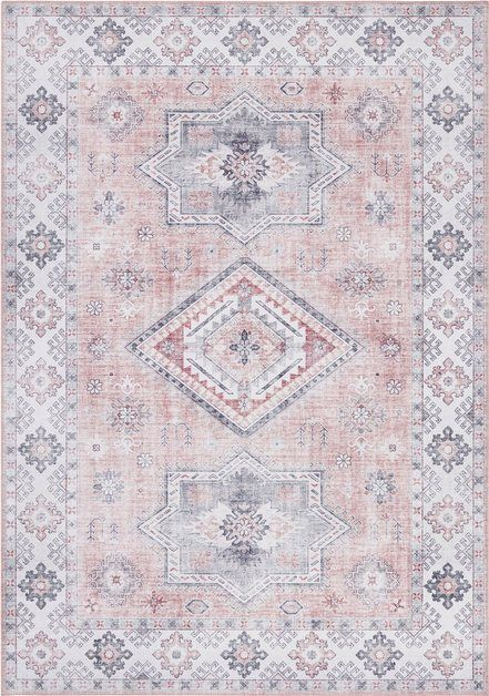 Carpet Gratia Rectangular Height 5 Mm Vintage Oriental Look In 2020 Teppich Wollteppich Teppich Altrosa