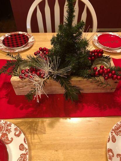 Rustic Christmas Table Centerpiece Christmas Table Centerpieces Christmas Table Decorations Centerpiece Country Christmas Decorations Rustic