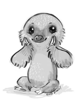 Image Result For Cute Baby Sloth Art Cute Baby Sloths Sloth Art