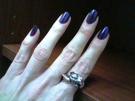 Purple Fingernails Hair And Nails Fingernails Nails
