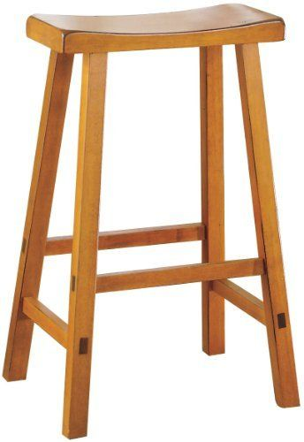 Homelegance 5302a 24 Saddleback 24 Inch Height Barstool Oak Set