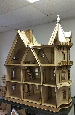 1:12 Dollhouse Miniatures DIY Doll House Kits Double Assembly Attic 2Set
