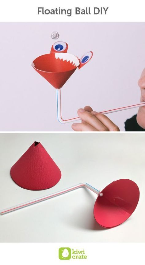 Crafts for kids - Floating Ball DIY Ever think that levitation was simply a trick for the movies, or some faroff science fiction dream Science Kids Classroom Ideas Summer Boredom Busters Homeschool Education Activities
