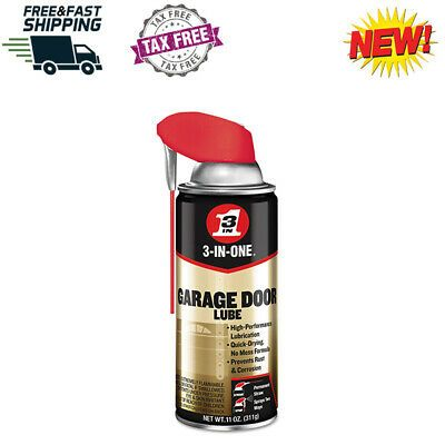 Sponsored Ebay 3 In 1 Professional Garage Door Lubricant With Smart Straw Sprays 2 Ways 11 Oz Garage Door Lubricant Lubricant Garage Doors