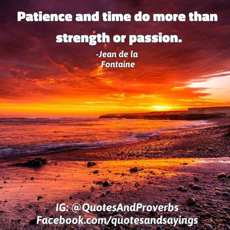 Patience And Timedo More Thanstrength Or Passion Jean De La