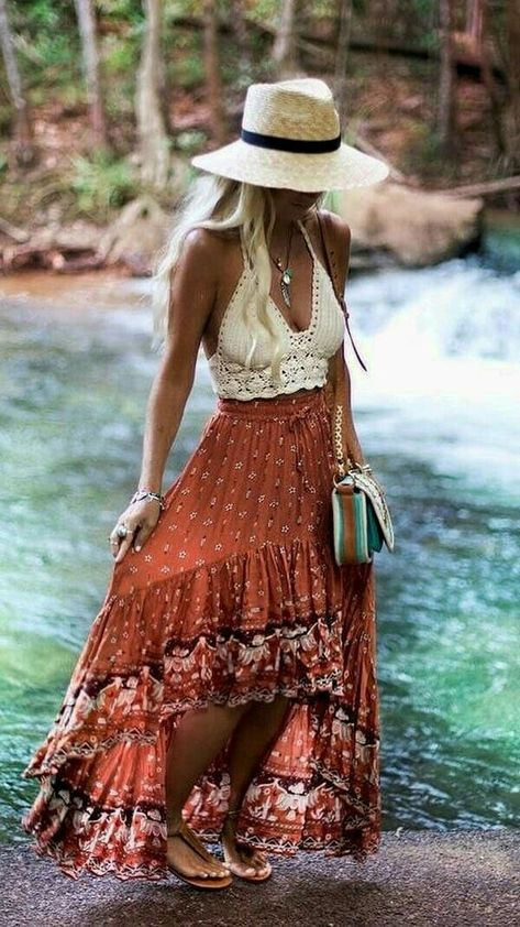 Maxi Boho Skirt & Gypsy Top