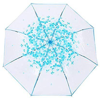 9b9d9ce0c217 Amazon.com: Unique Clear Manual Open/ Close Rain Umbrella Compact 3 ...
