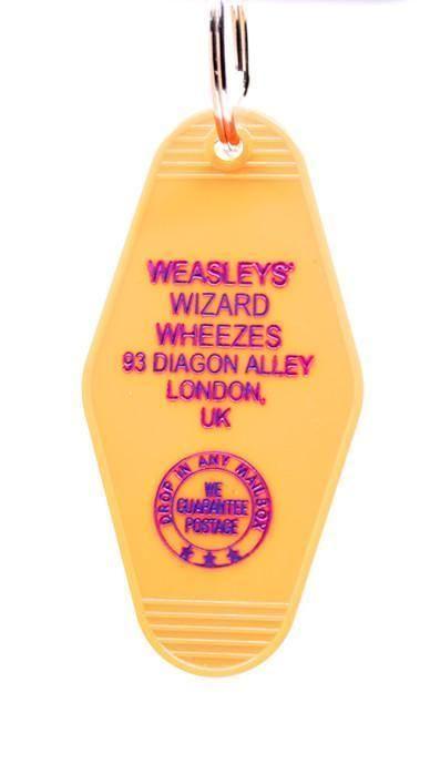 Three Sisters Motel Key Fob Weasley's Wizard Wheezes