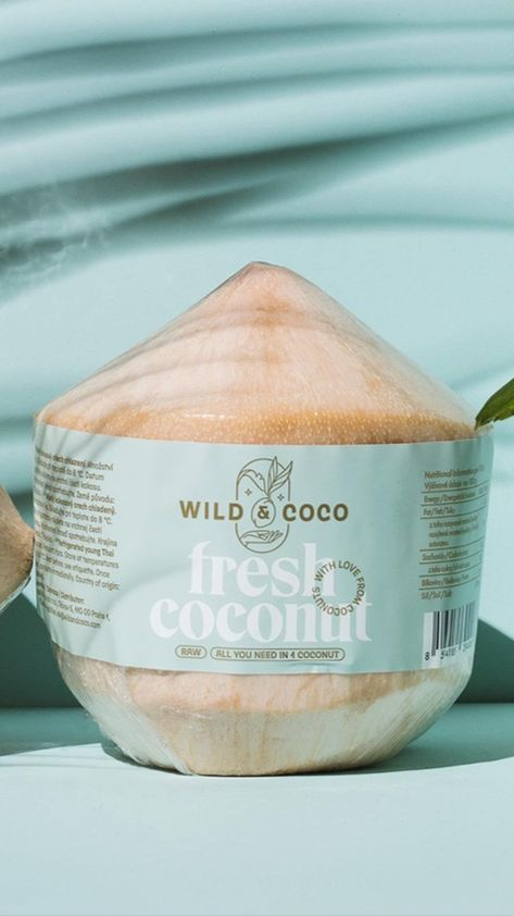 Wild & Coco coconut product branding and packaging design by Alina Shupikov
