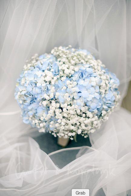 Gypsophila & hydrangea bridal bouquet made by www.stems.me.uk