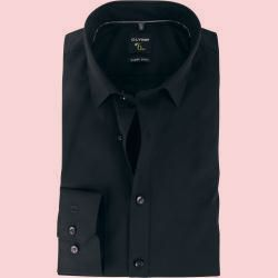Olymp No 6 Six Hemd Super Slim Fit Schwarz Olympolymp In 2020 Slim Fit Shirt Workout Shirts Summer Trends Outfits
