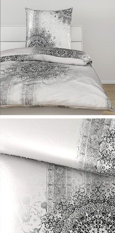 Bettwasche Silber Mit Orientalischem Muster 140x200 Orientalische Bettwasche Orientalische Muster Bettwasche