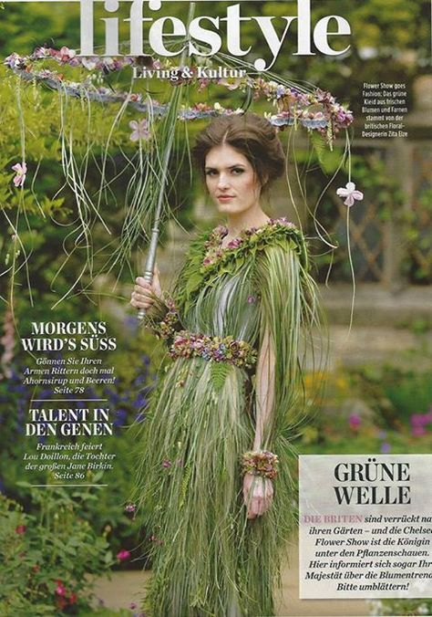 Un vestido de novia con flores naturales One day Pinterest Floral