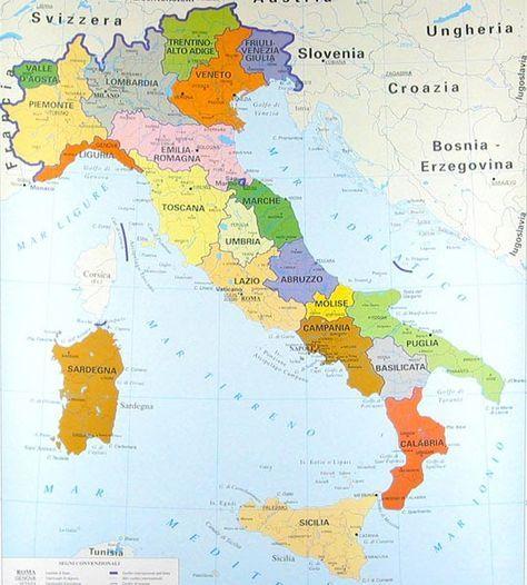 Cartina Italia Politica Lombardia.Pin Su Geografia