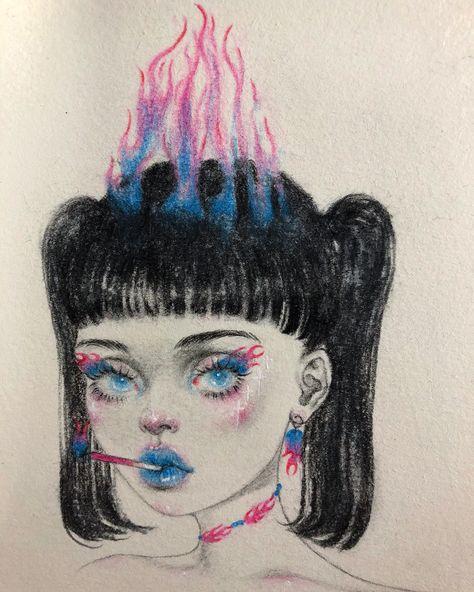 Pop Art Drawing, Art Drawings Sketches, Pretty Art, Cute Art, Pix Art, Mark Ryden, Arte Sketchbook, Audrey Kawasaki, Scary Art