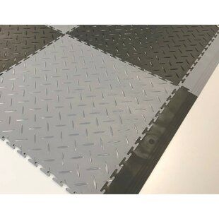 Rubber Cal Inc Diamond Plate Garage Flooring Roll In Black