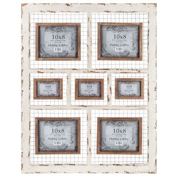 Distressed Cream White Wall Collage Frame Frame Wall Collage Frames On Wall Wall Collage
