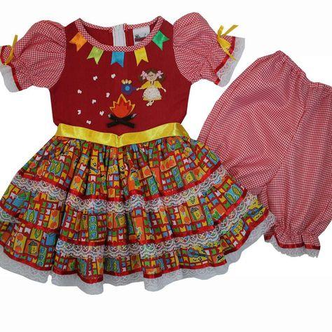 Cegonha Feliz Tamanho 1 Ao 3 Vestido De Festa Junina