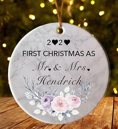 Pandemic Christmas Ornament 2020 When Online Learning Was the Norm Quarantine Wood Ornament Personalized Gift Funny Couples Gift