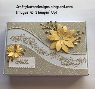 Stampin Up Christmas, Christmas Cards To Make, Poinsettia Cards, Stamping Up Cards, Rubber Stamping, Pretty Box, Paper Pumpkin, Flower Cards, Homemade Cards