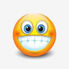 Cute smiling, grinning emoticon showing teeth, emoji | Teeth emoji, Emoji, Smile  teeth