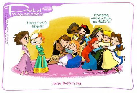 Mother's and Disney Pocket Princess Disney Pixar, Disney Amor, Walt Disney, Gif Disney, Cute Disney, Disney And Dreamworks, Disney Animation, Disney Magic, Disney Characters
