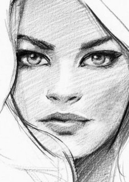 Woman Face Female Face Drawing Realistic Face Drawing Watercolor Woman Face