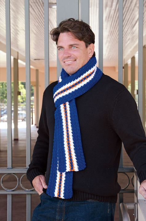 Denver Football Free Crochet Scarf Pattern | Pinterest | Tejer ...