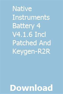 native instruments battery 4 crack download