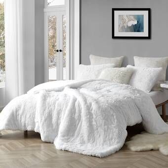 Harlow Oversized Reversible Comforter Set In 2020 Duvet Comforters Fluffy Bedding Comforter Sets
