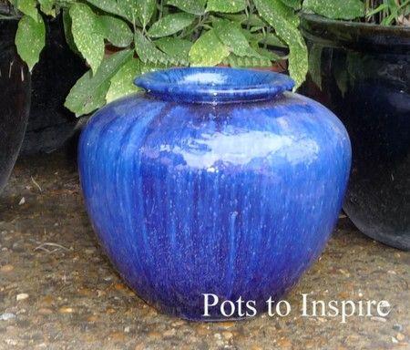 Glazed Blue Parlour Pot Planter Woodside Garden Centre Pots To Inspire Woodside Garden Centre Vases Decor Garden Pots