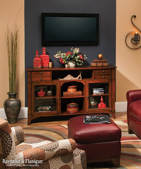 Want To Hide Your Flat Screen Tv Just Make It Blend In With The Background Apply A Dark Accent Walls In Living Room Living Room Wall Color Dining Room Small